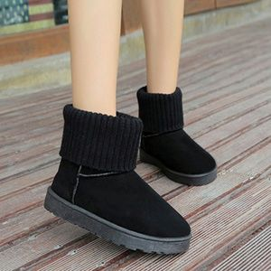 Shoes - NEW  Black Cuffed Faux Suede Winter Ankle Booties
